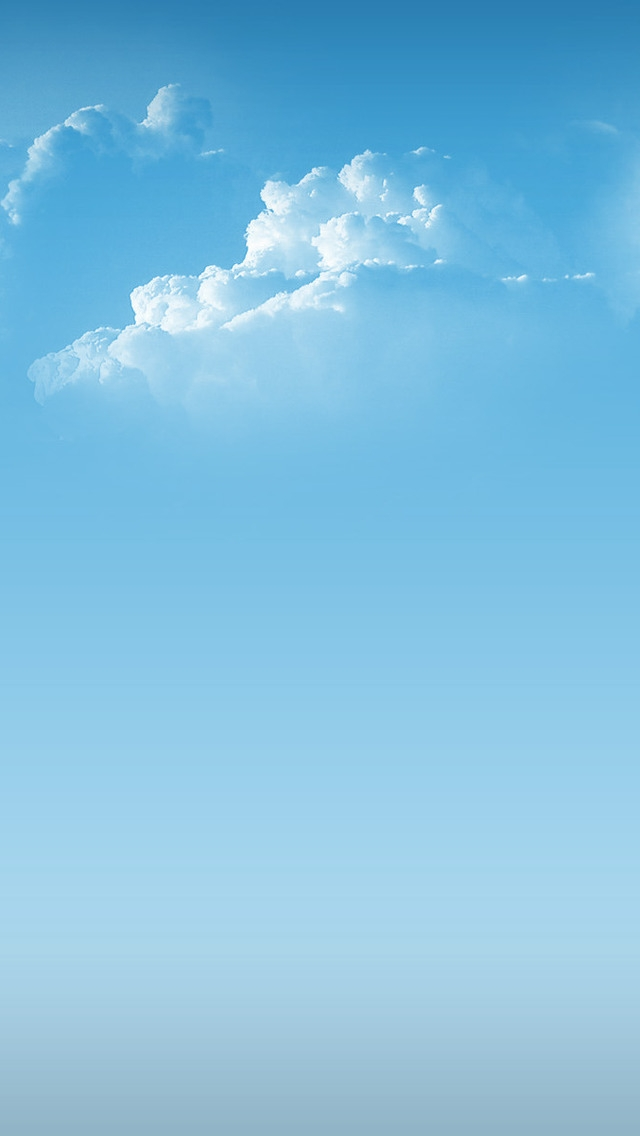 Simple Clouds for 640 x 1136 iPhone 5 resolution