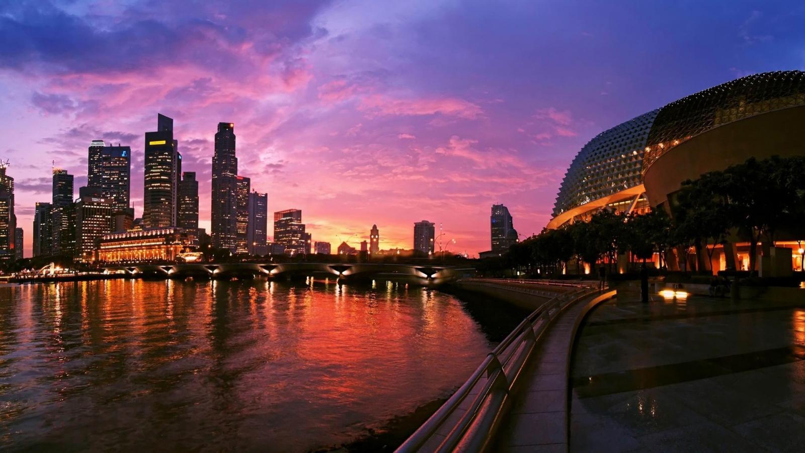 Singapore 1600 x 900 HDTV Wallpaper