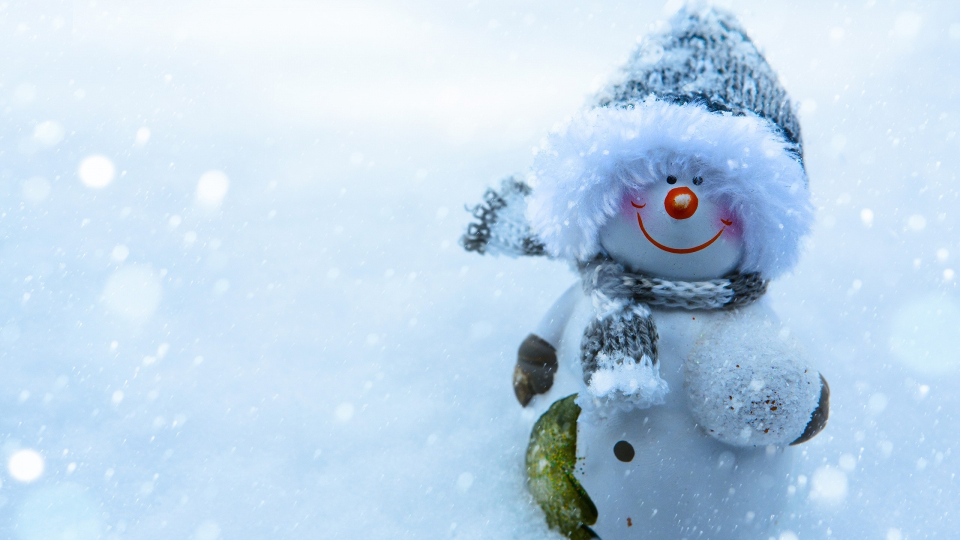 Snowman Smiling for 1920 x 1080 HDTV 1080p resolution