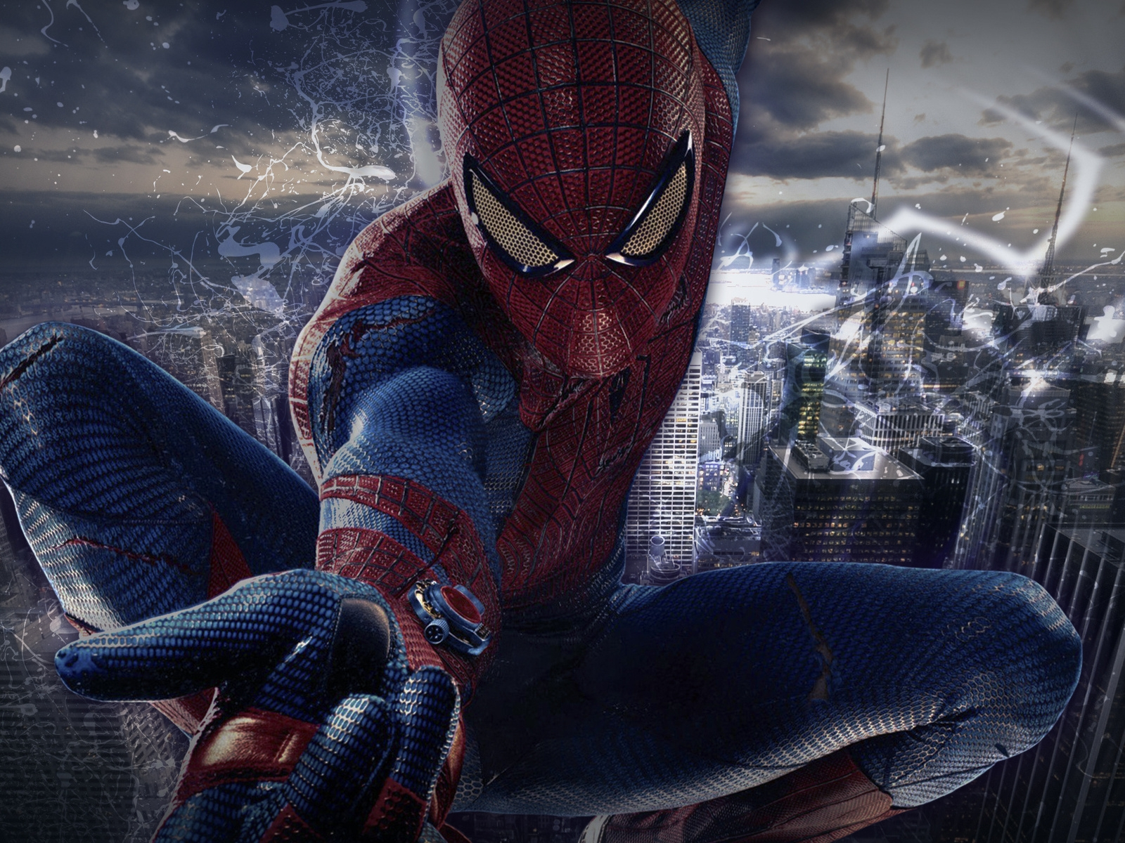 Spiderman Pose for 1600 x 1200 resolution