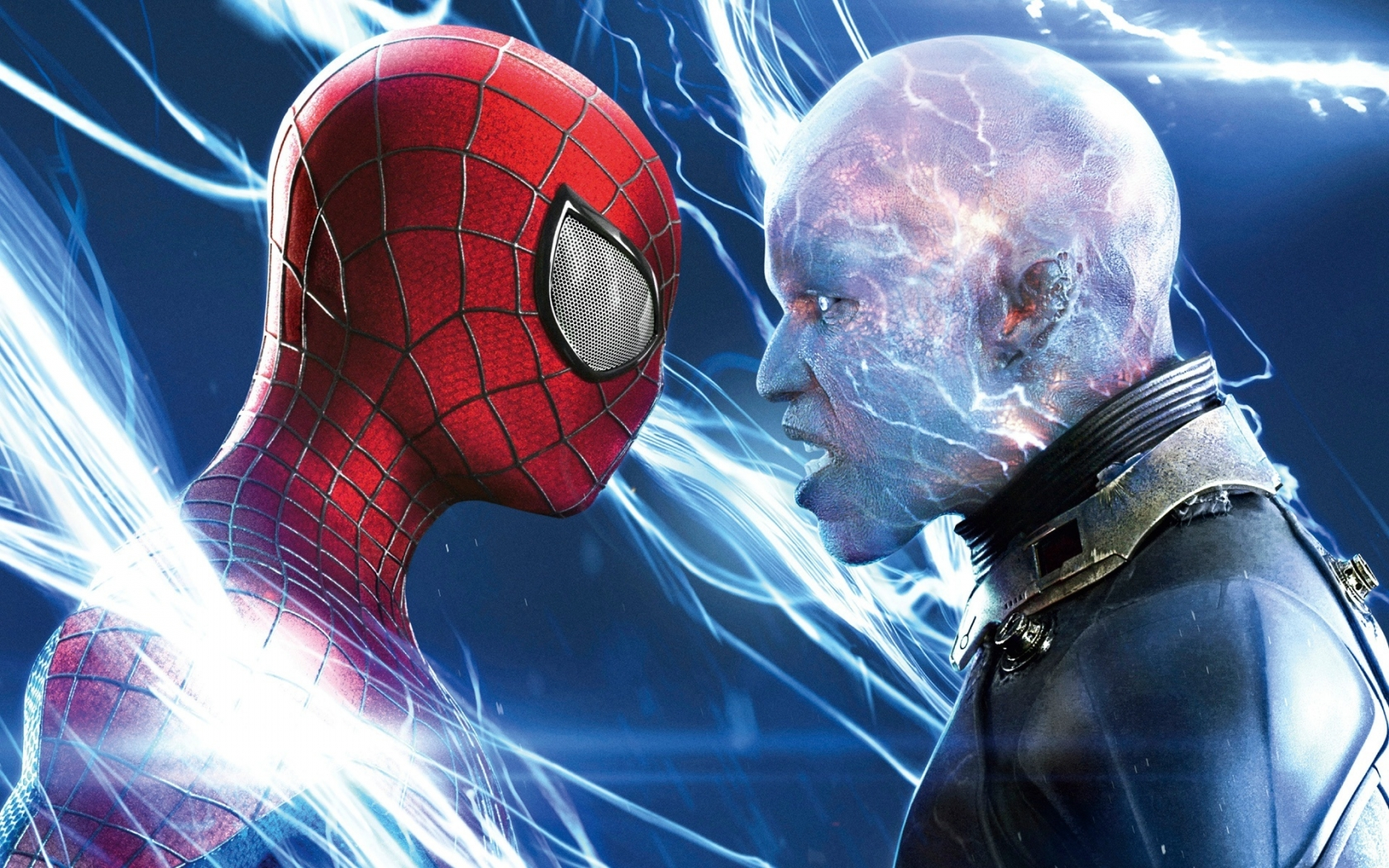 Spiderman vs Electro for 1680 x 1050 widescreen resolution