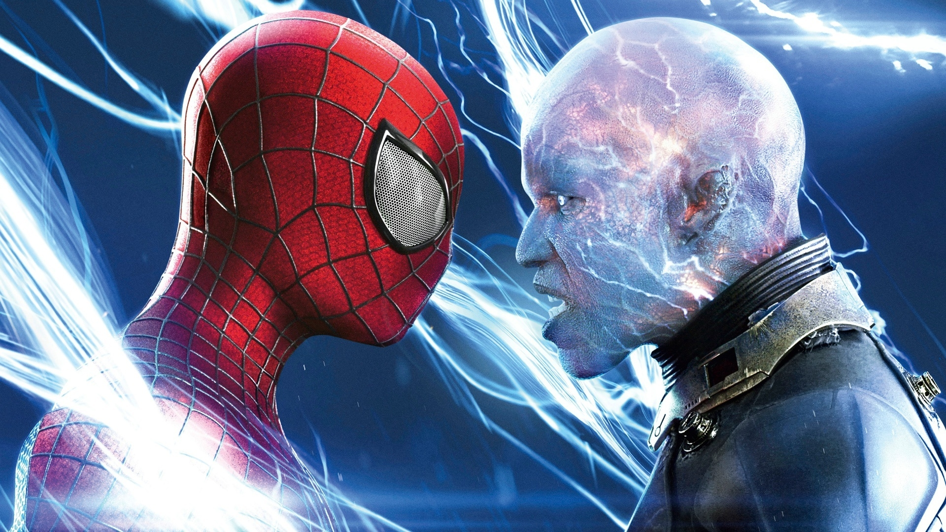 Spiderman vs Electro for 1920 x 1080 HDTV 1080p resolution