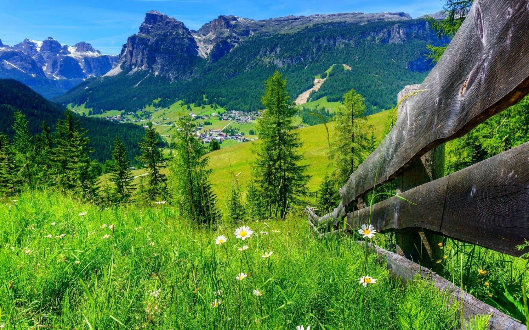 Spring Mountain Landscape 1680 X 1050 Widescreen Wallpaper