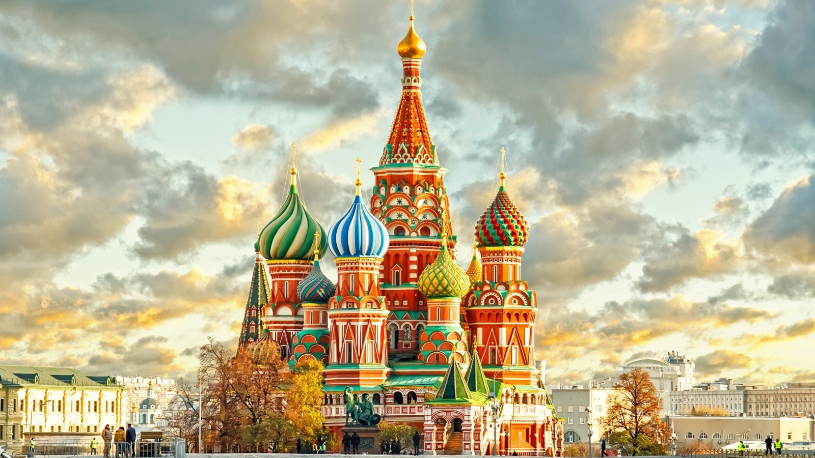 St. Basils Cathedral Moscow Kremlin for 1600 x 900 HDTV resolution