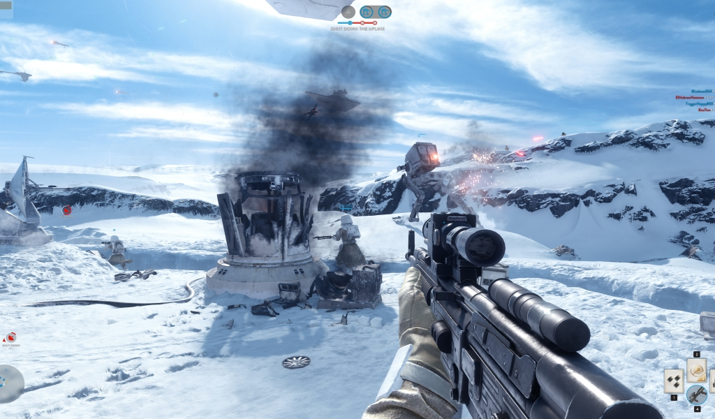 Star Wars Battlefront Leaked Alpha for 1024 x 600 widescreen resolution