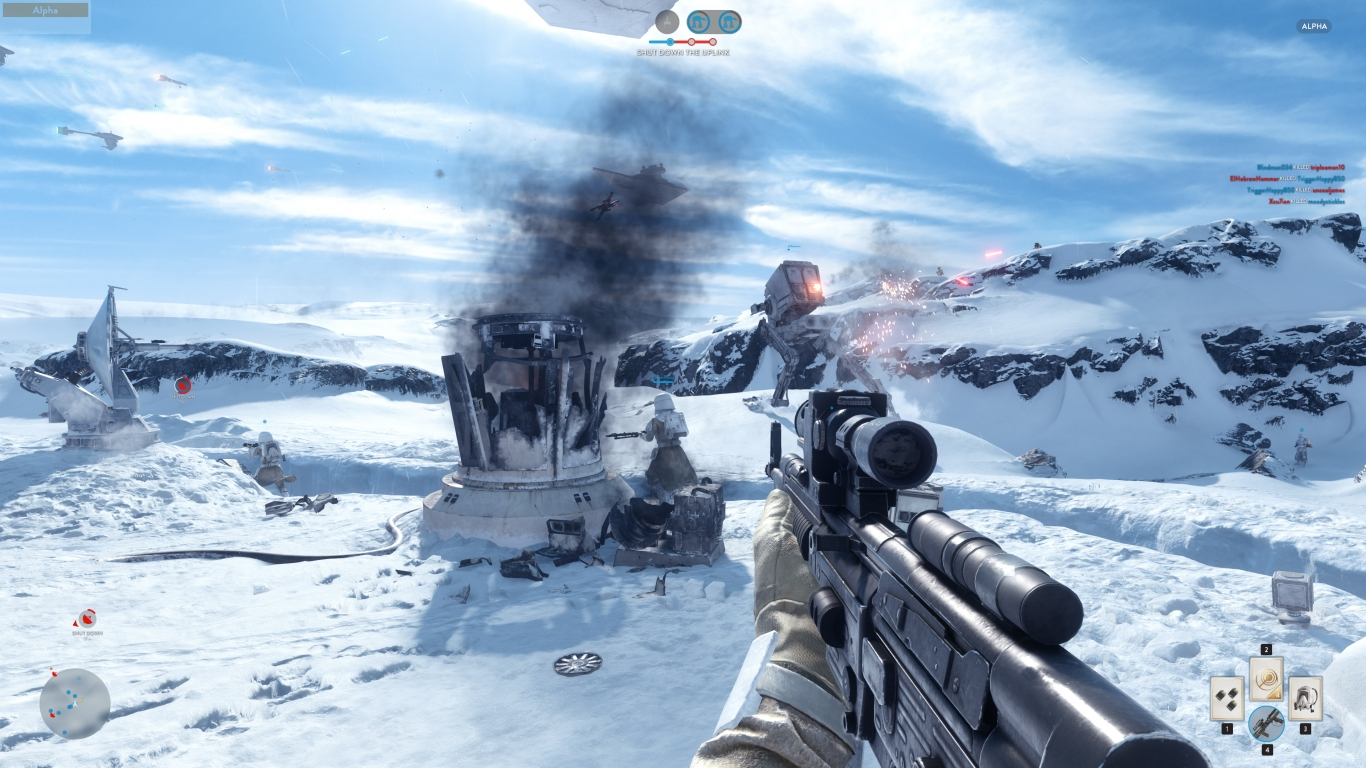 Star Wars Battlefront Leaked Alpha for 1366 x 768 HDTV resolution