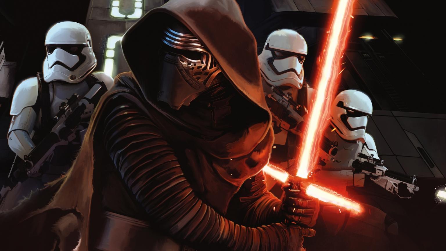 Star Wars The Force Awakens Anime 1536 X 864 Hdtv Wallpaper