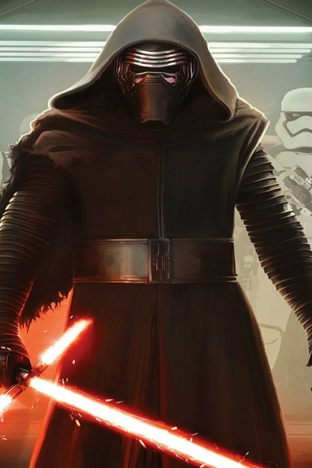Star Wars VII Darth Vader and Storm Troopers for 640 x 960 iPhone 4 resolution