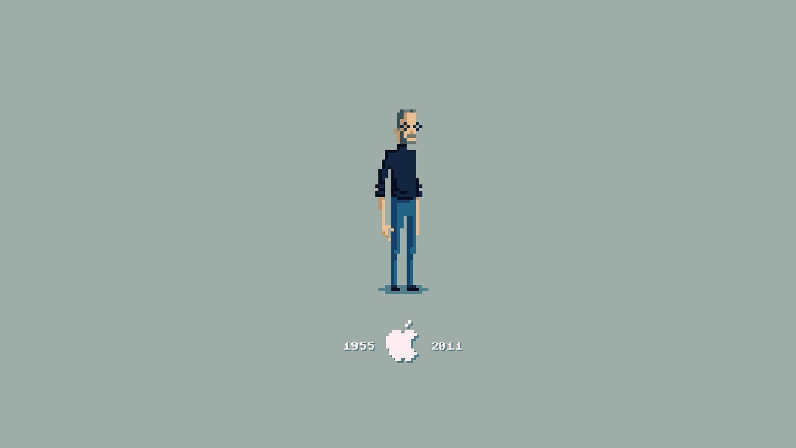 Steve Jobs Pixelated for 2560x1440 HDTV resolution