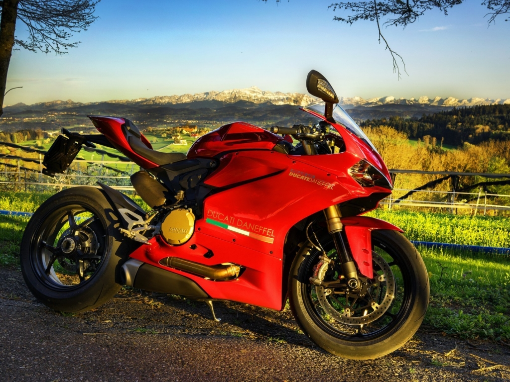 Stunning Red Ducati  for 1024 x 768 resolution