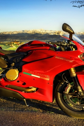 Stunning Red Ducati  for 320 x 480 iPhone resolution