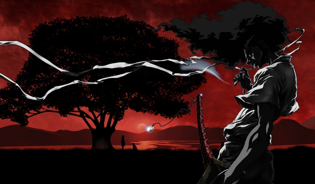 afro samurai wallpaper. Sundown Afro Samurai 1024x600