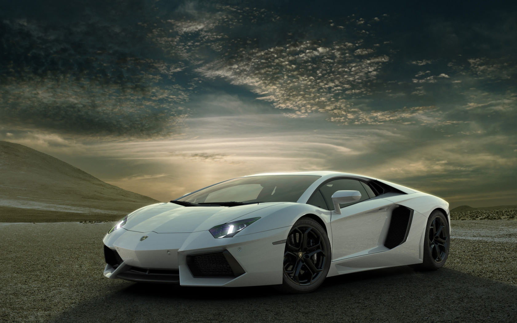 Superb Lamborghini Aventador for 1680 x 1050 widescreen resolution