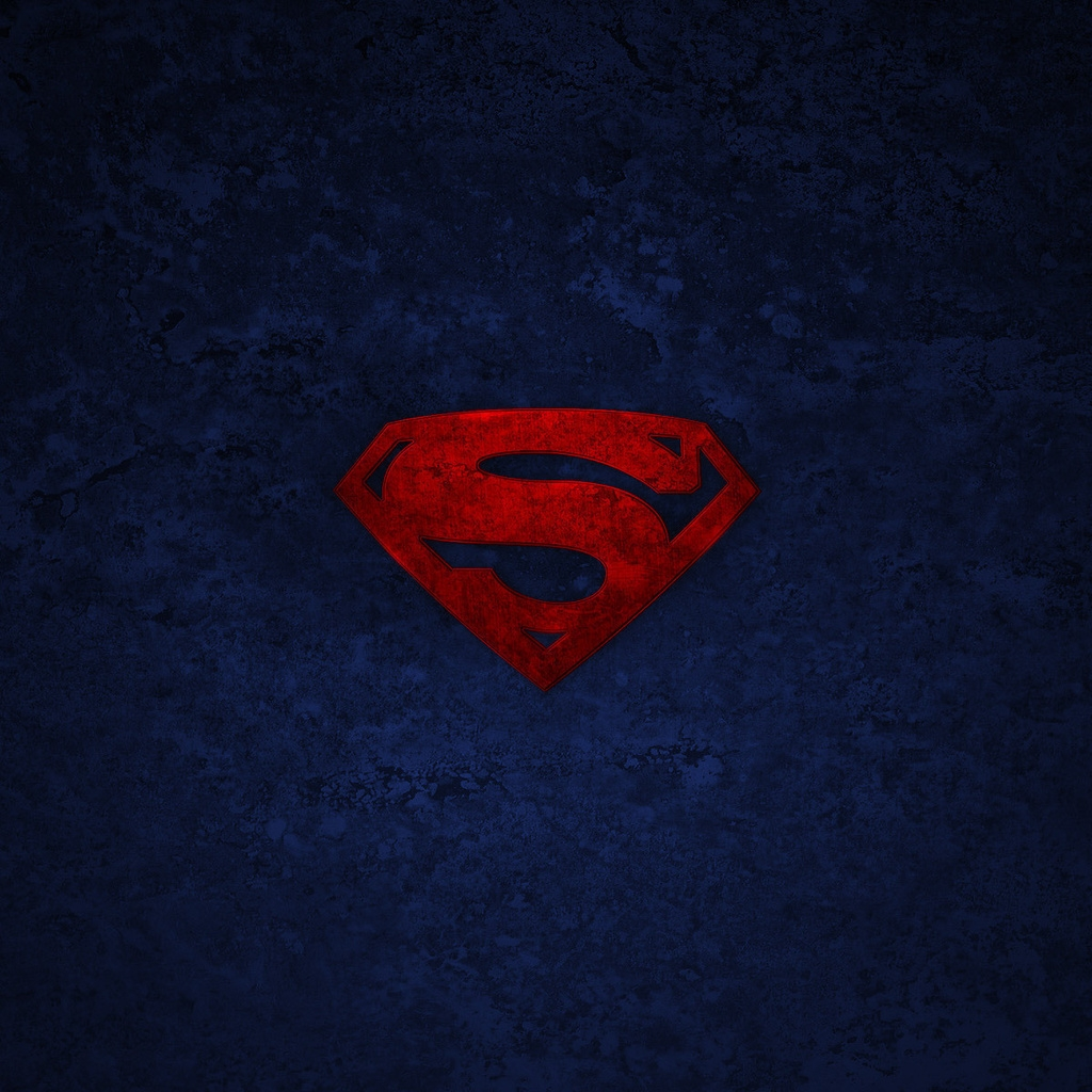 Superman Logo for 1024 x 1024 iPad resolution