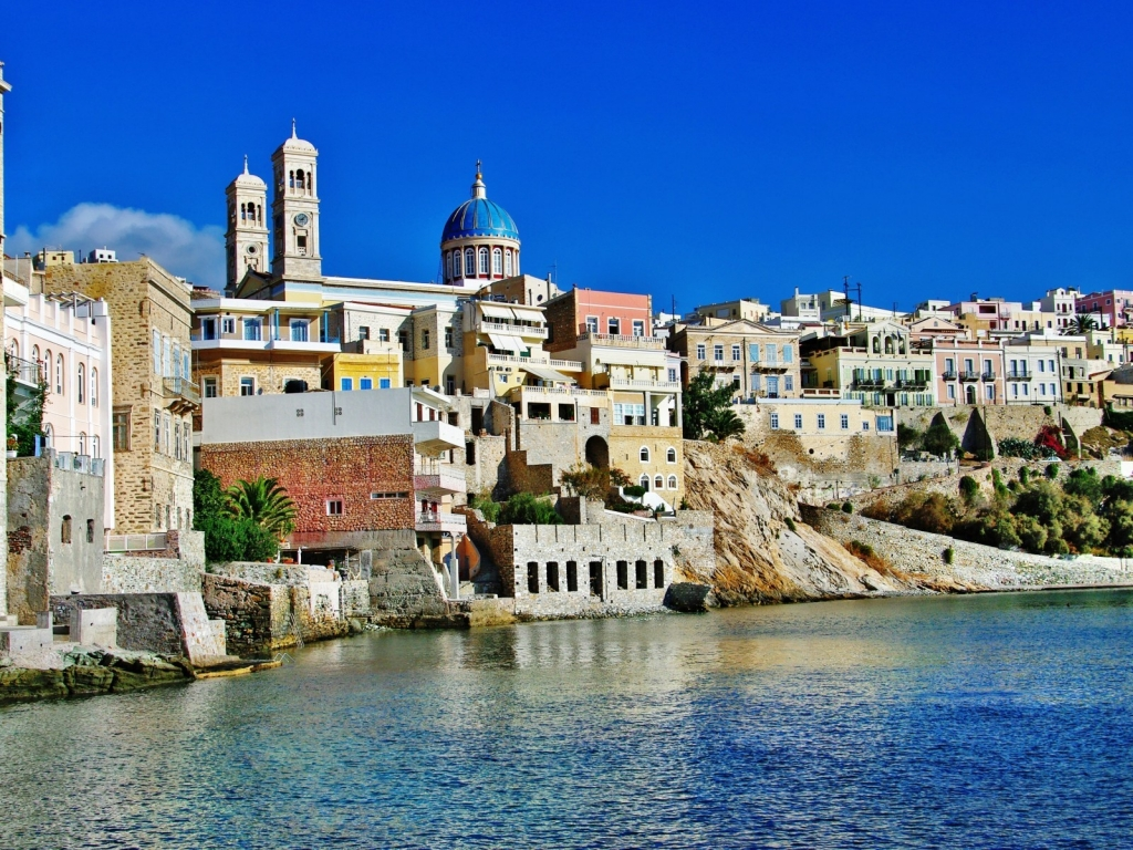 Syros Island Greece for 1024 x 768 resolution