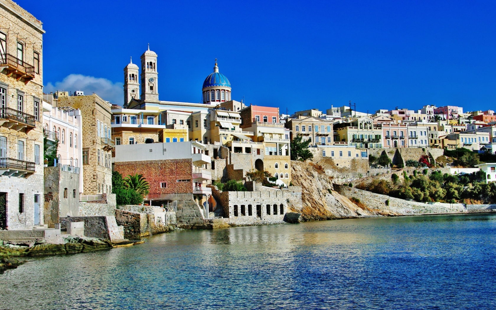 Syros Island Greece for 1680 x 1050 widescreen resolution