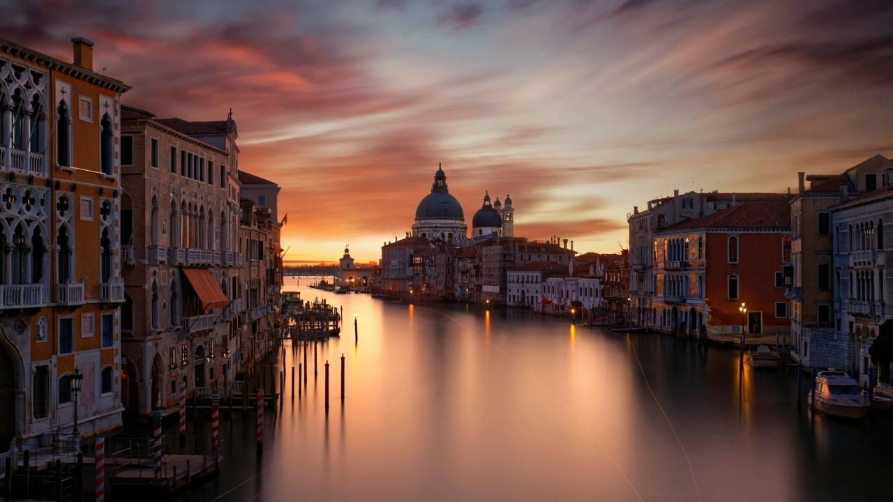 The Grand Canal Venice for 1280 x 720 HDTV 720p resolution