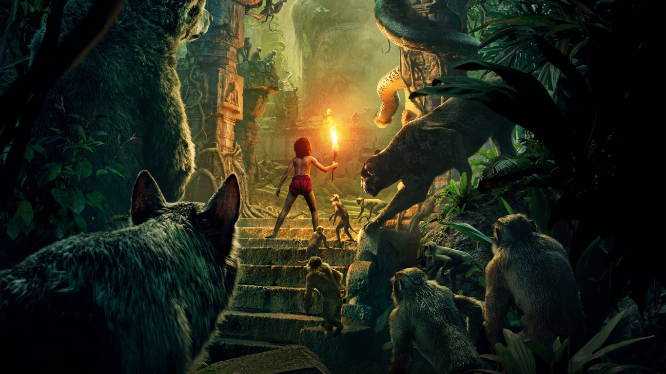 The Jungle Book 2016 for 1366 x 768 HDTV resolution