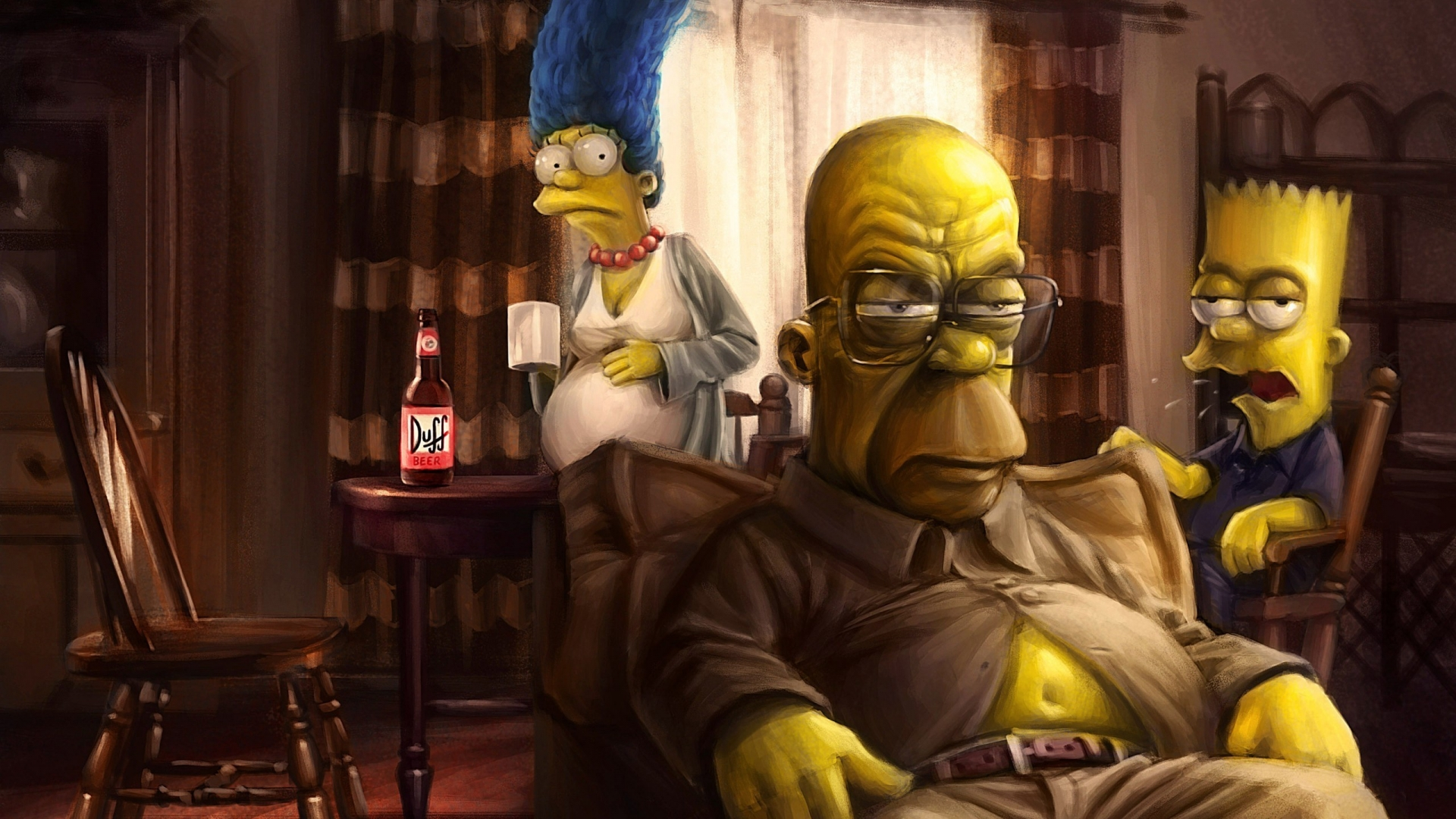 The Simpsons Breaking Bad 1920 X 1080 Hdtv 1080p Wallpaper