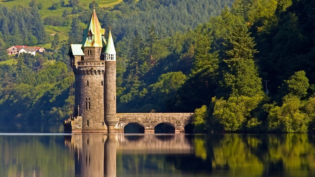The Vyrnwy Tower for 1280 x 720 HDTV 720p resolution