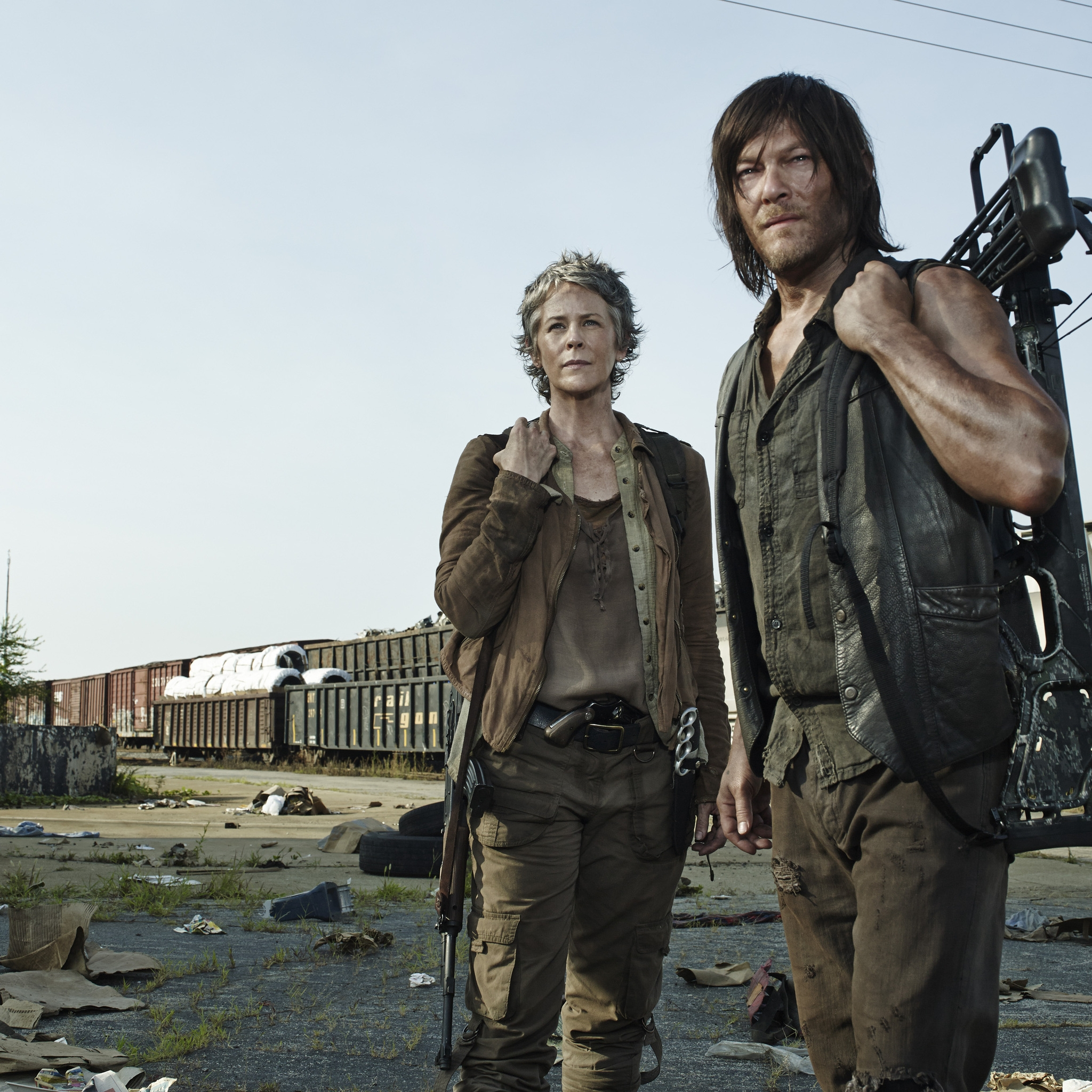 The Walking Dead Carol And Daryl 2048 X 2048 New Ipad Wallpaper