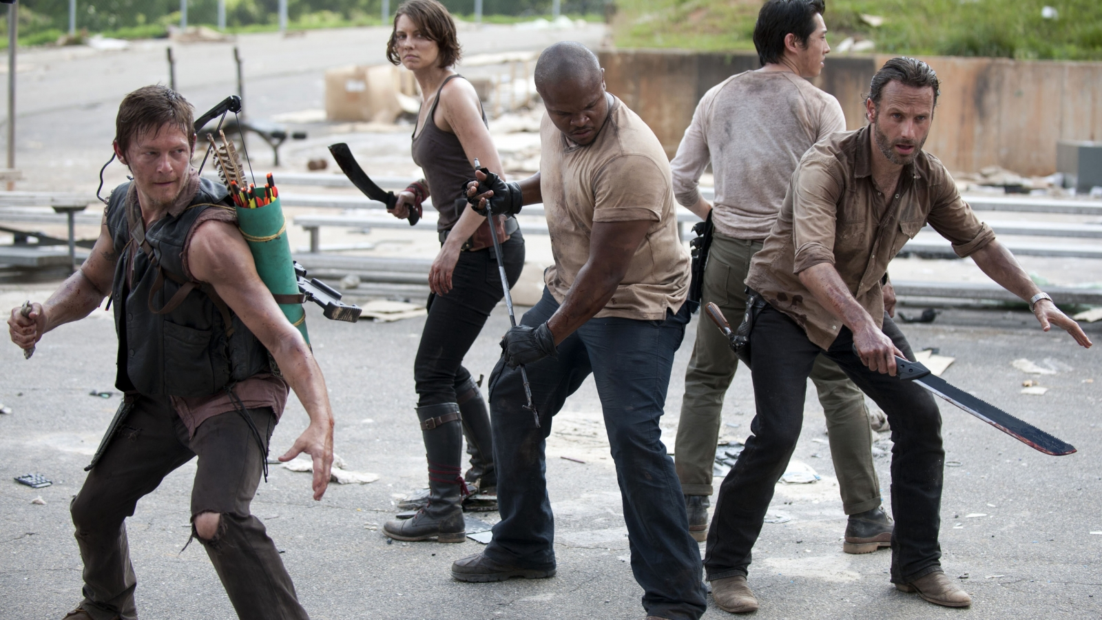 The Walking Dead Cast for 1600 x 900 HDTV resolution