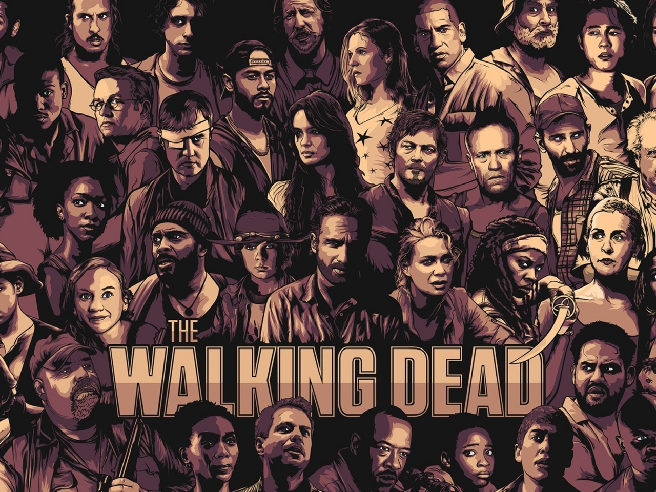 The Walking Dead Cool Poster for 1280 x 960 resolution