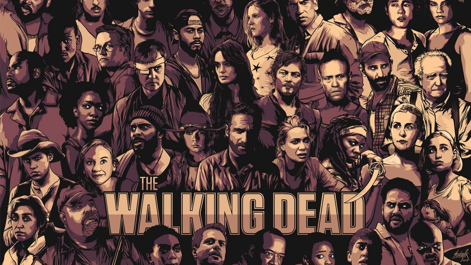The Walking Dead Cool Poster for 1536 x 864 HDTV resolution