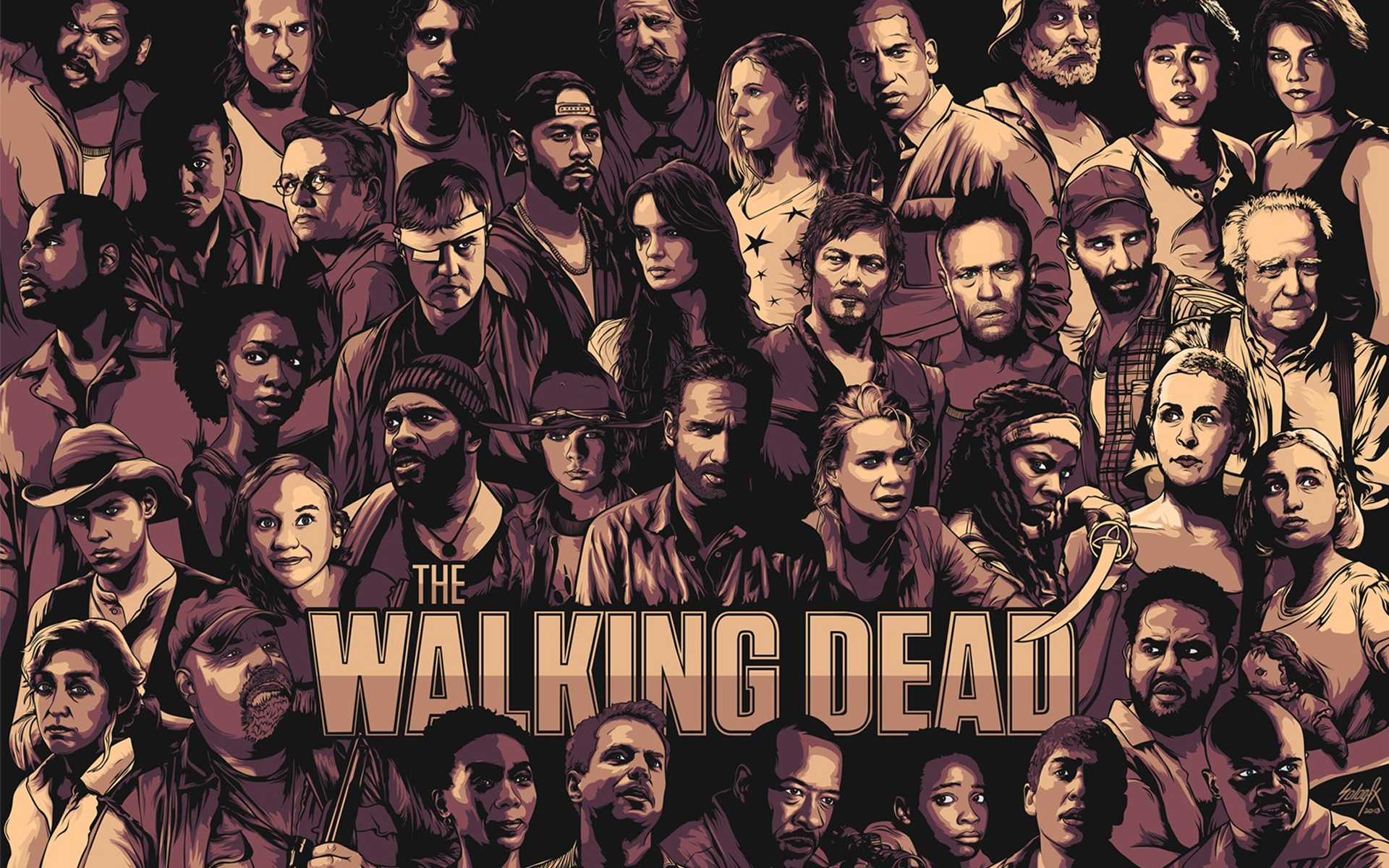 The Walking Dead Cool Poster for 1920 x 1200 widescreen resolution