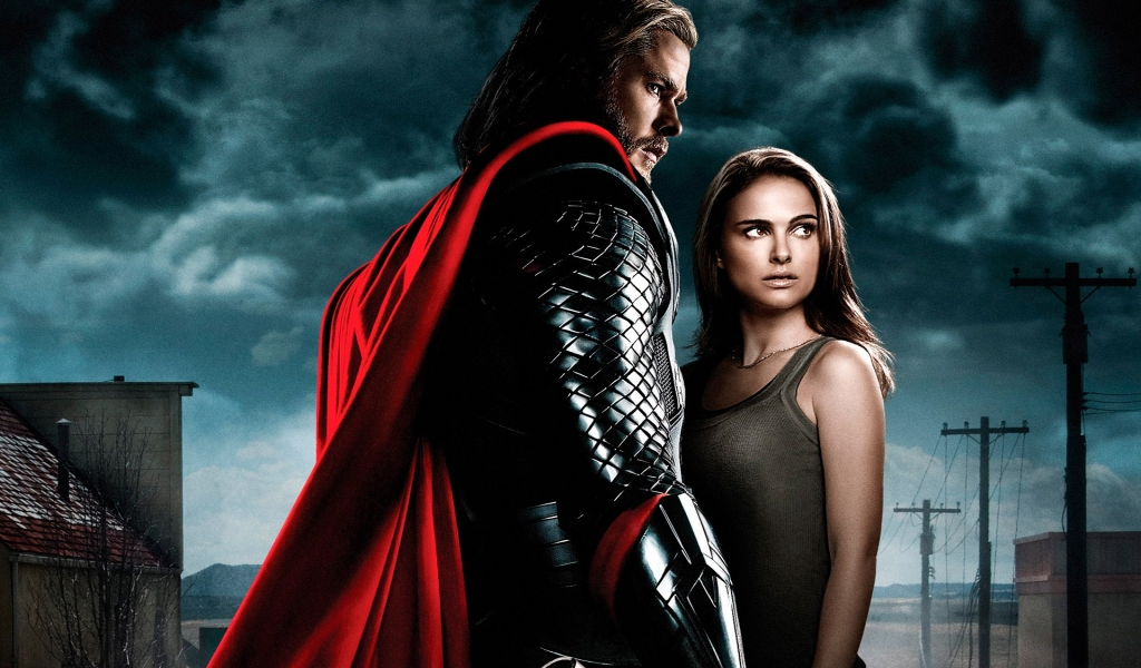 Thor and Jane Foster for 1024 x 600 widescreen resolution