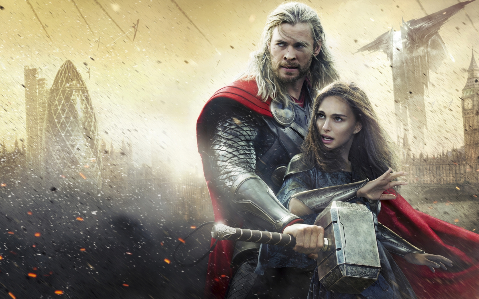 Thor Movie: Thor and Jane Foster for 1680 x 1050 widescreen resolution