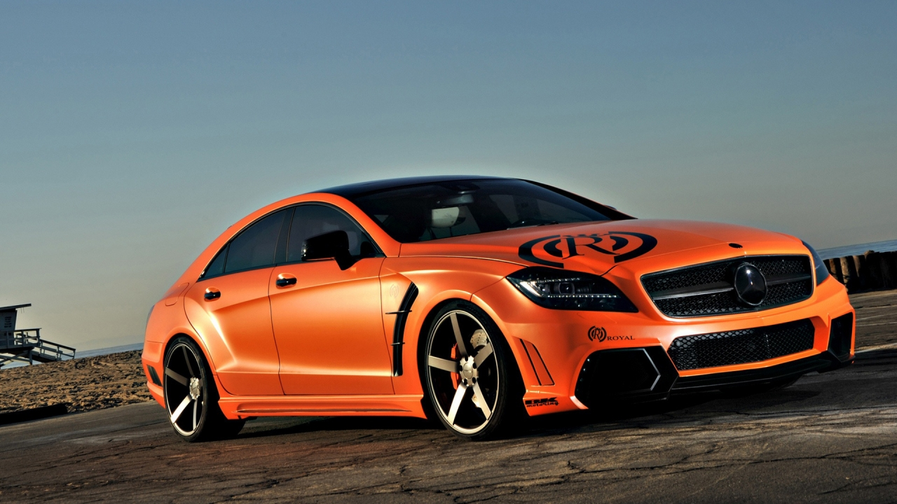 Tuned Mercedes CLS for 1280 x 720 HDTV 720p resolution