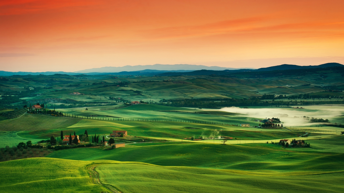 Tuscany Italy for 1366 x 768 HDTV resolution
