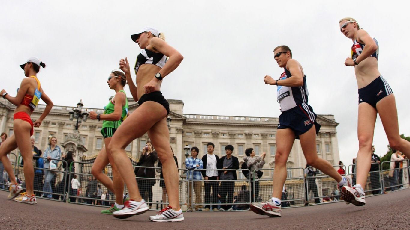 UKA 20km Race Walking Championships for 1366 x 768 HDTV resolution