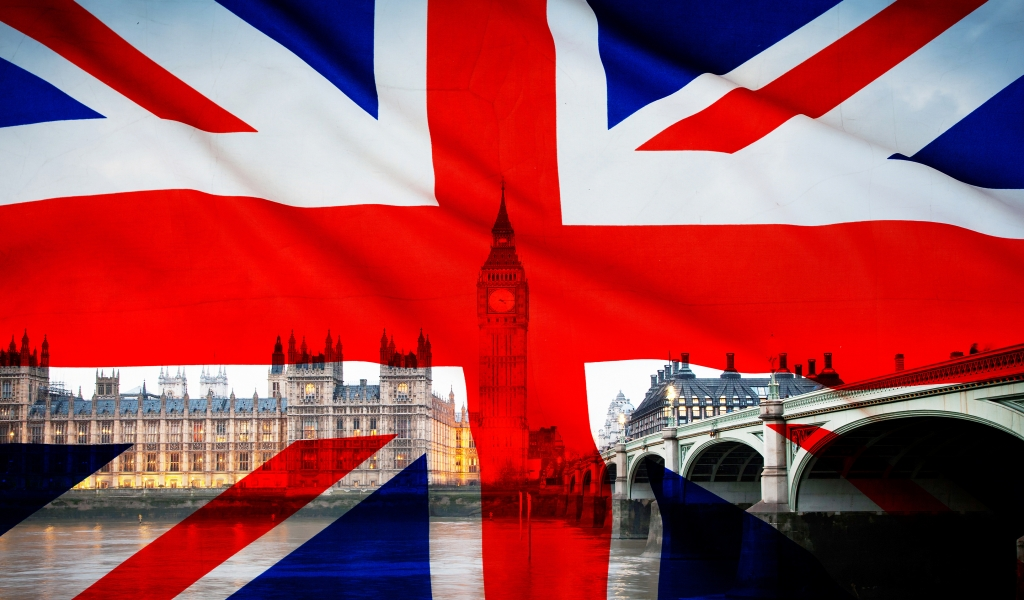 Union Jack – Flag of the UK for 1024 x 600 widescreen resolution