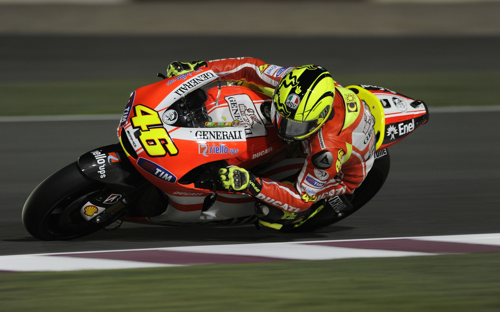 Valentino Rossi Ducati for 1920 x 1200 widescreen resolution