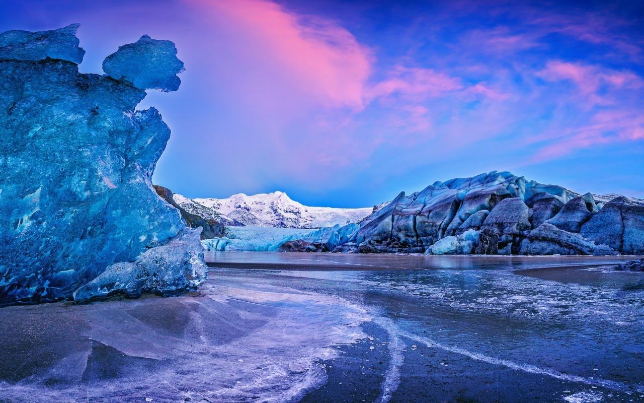 1280x1280 Wallpaper: Vatna Glacier Icelend 1280 X 800 Widescreen Wallpaper