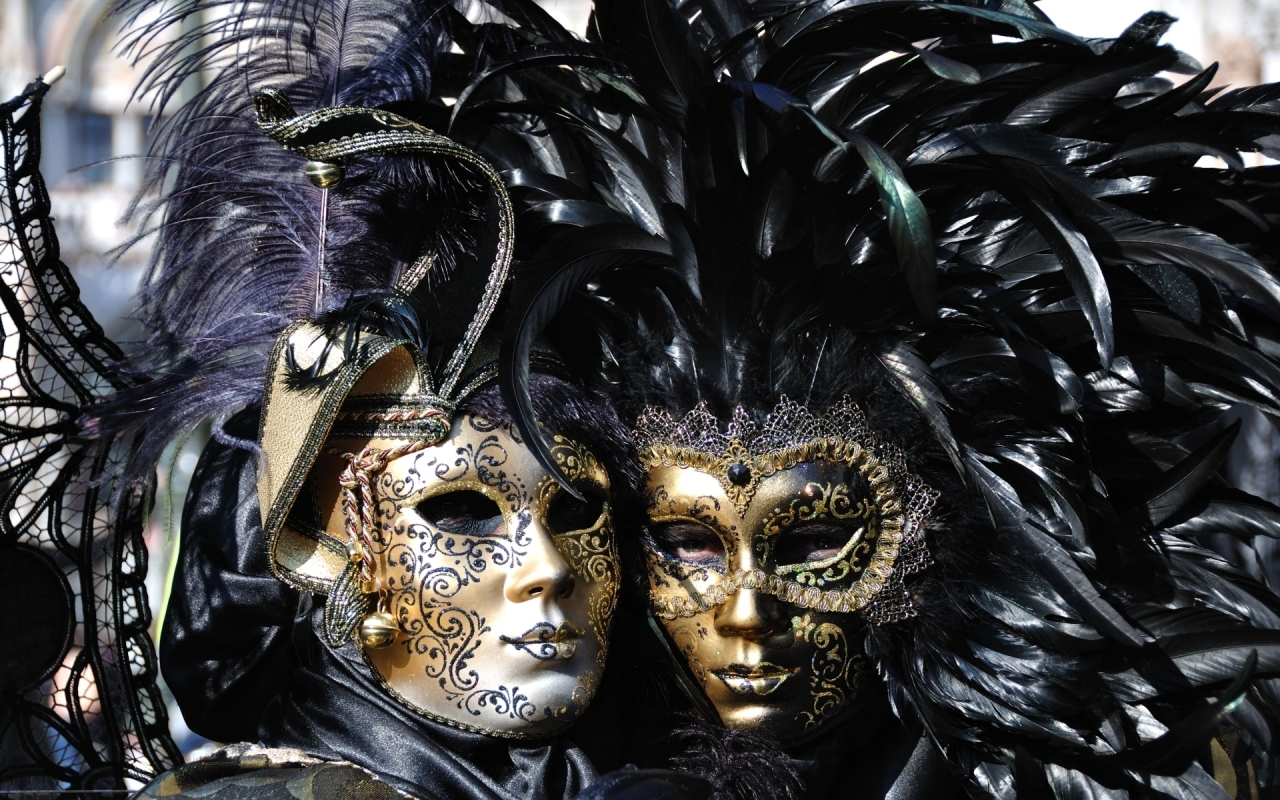 Venice Carnival Masks for 1280 x 800 widescreen resolution