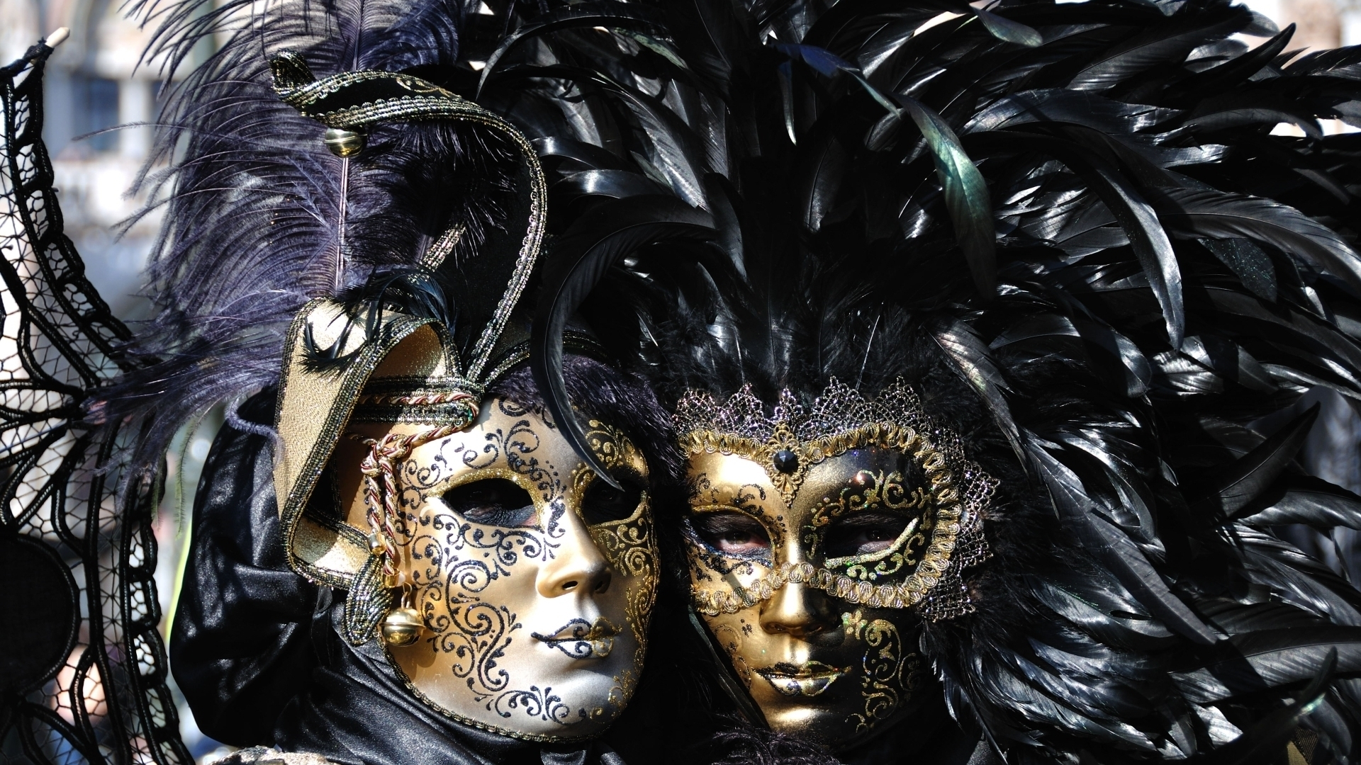 Venice Carnival Masks for 1920 x 1080 HDTV 1080p resolution
