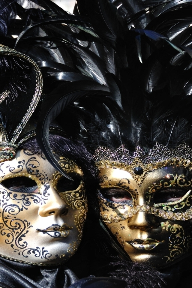 Venice Carnival Masks for 640 x 960 iPhone 4 resolution