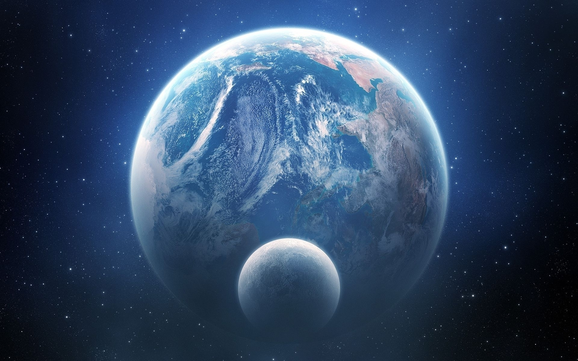 View Earth From Space Hd Wallpaper Wallpaperfx