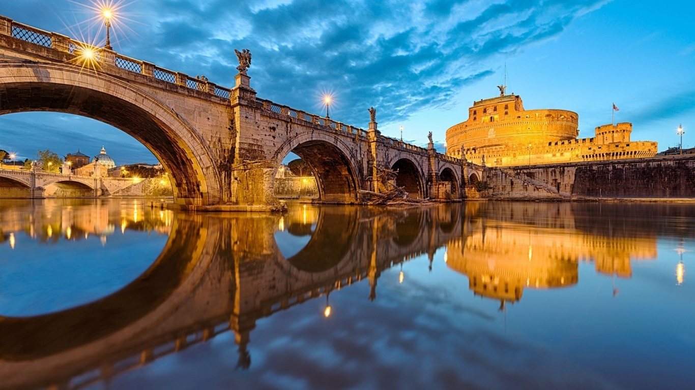 View of St Angelo Bridge for 1366 x 768 HDTV resolution