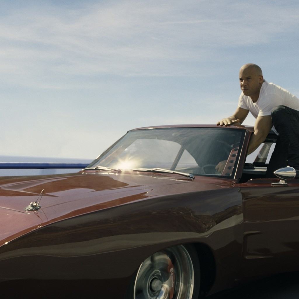 Vin Diesel in Fast and Furious for 1024 x 1024 iPad resolution