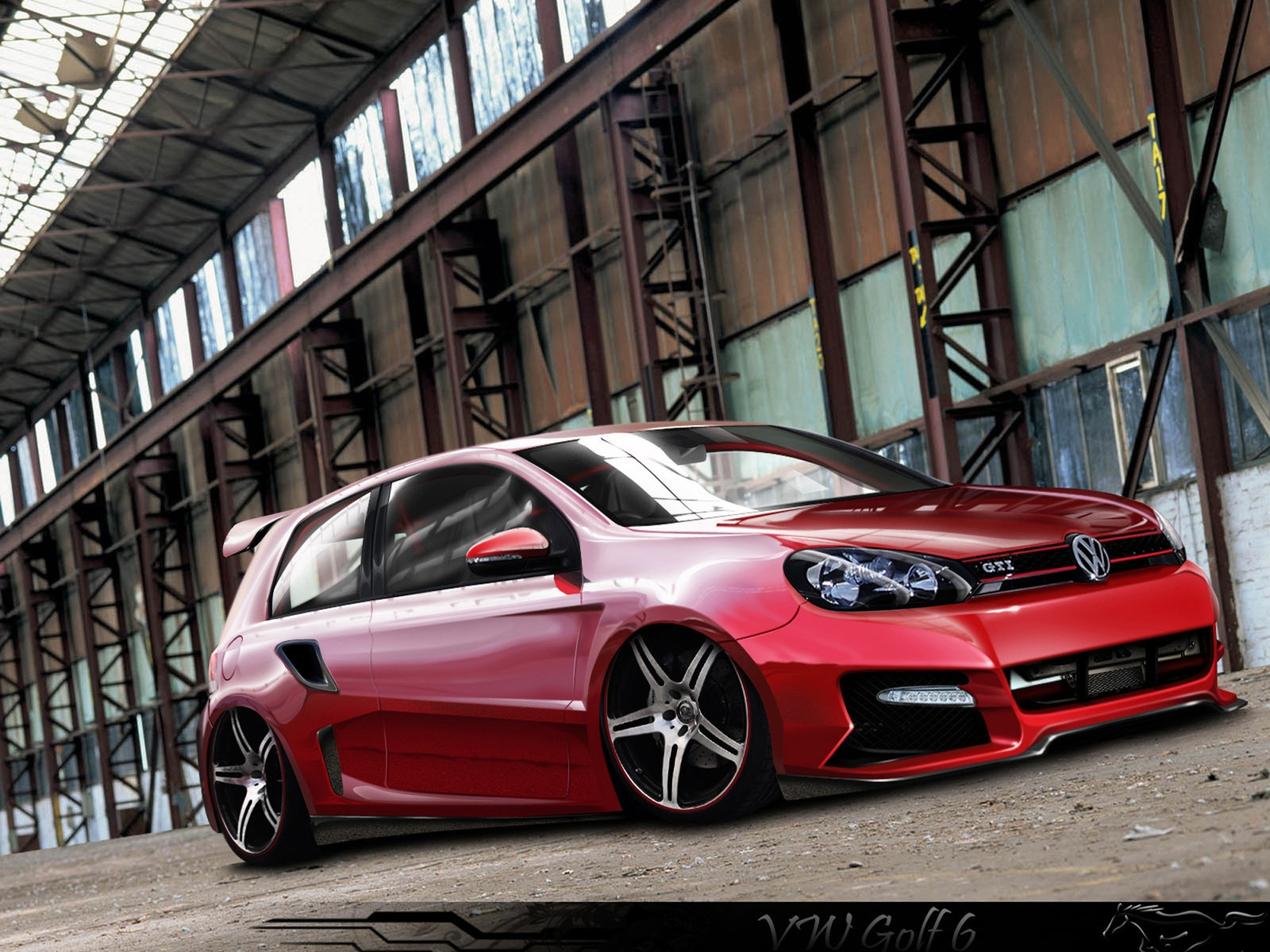 VW Golf 6 GTI Tuning for 1600 x 1200 resolution