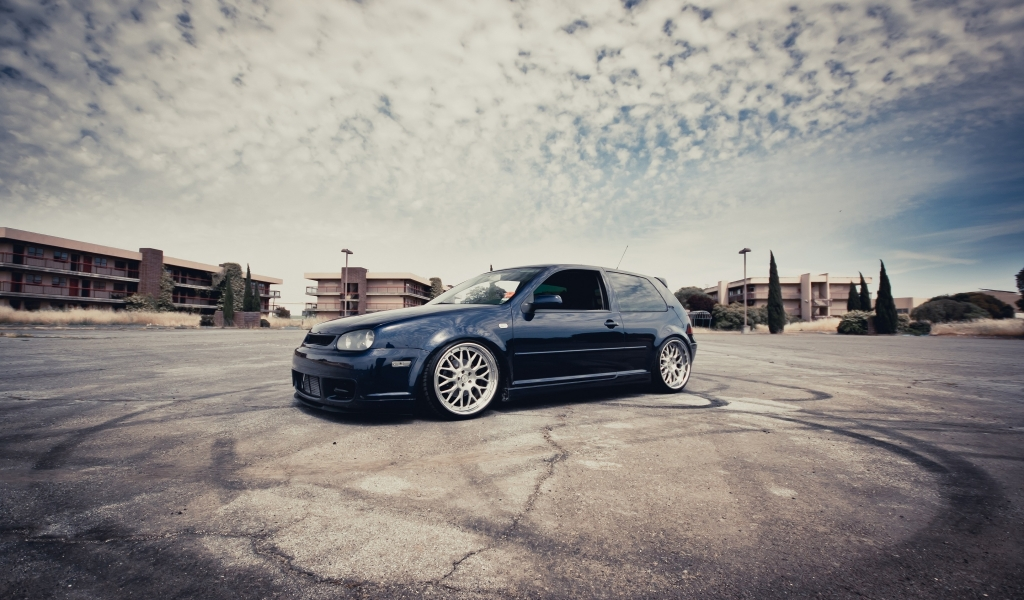 VW Golf III Coupe Tuning for 1024 x 600 widescreen resolution