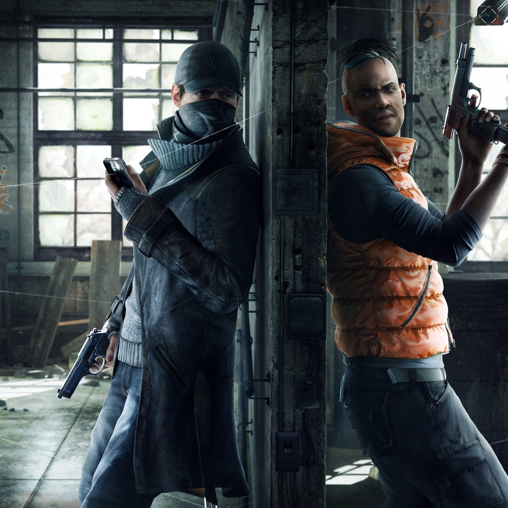 Watchdogs Aiden and Wade for 1024 x 1024 iPad resolution