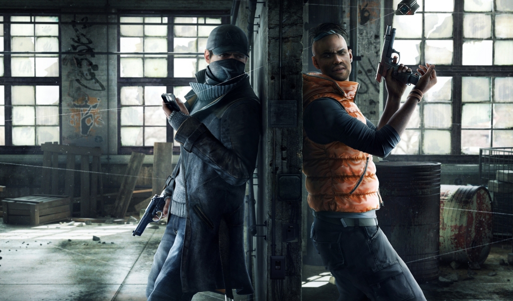 Watchdogs Aiden and Wade for 1024 x 600 widescreen resolution