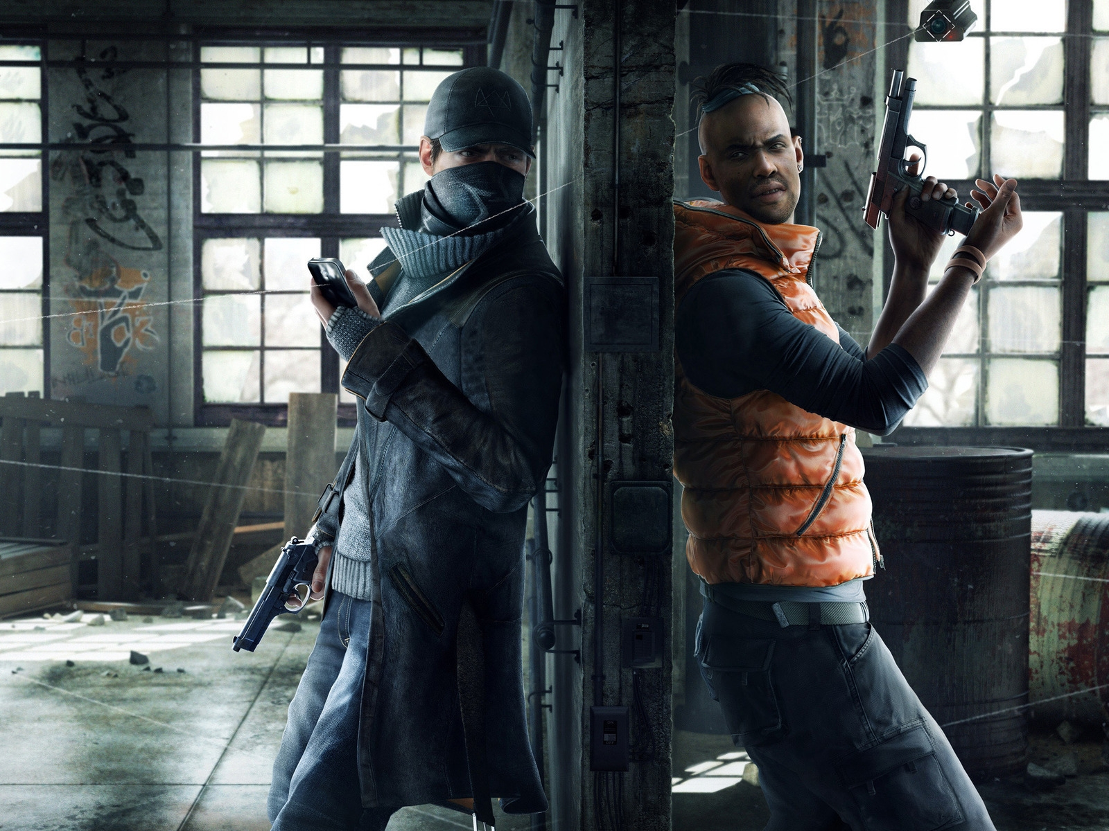 Watchdogs Aiden and Wade for 1600 x 1200 resolution