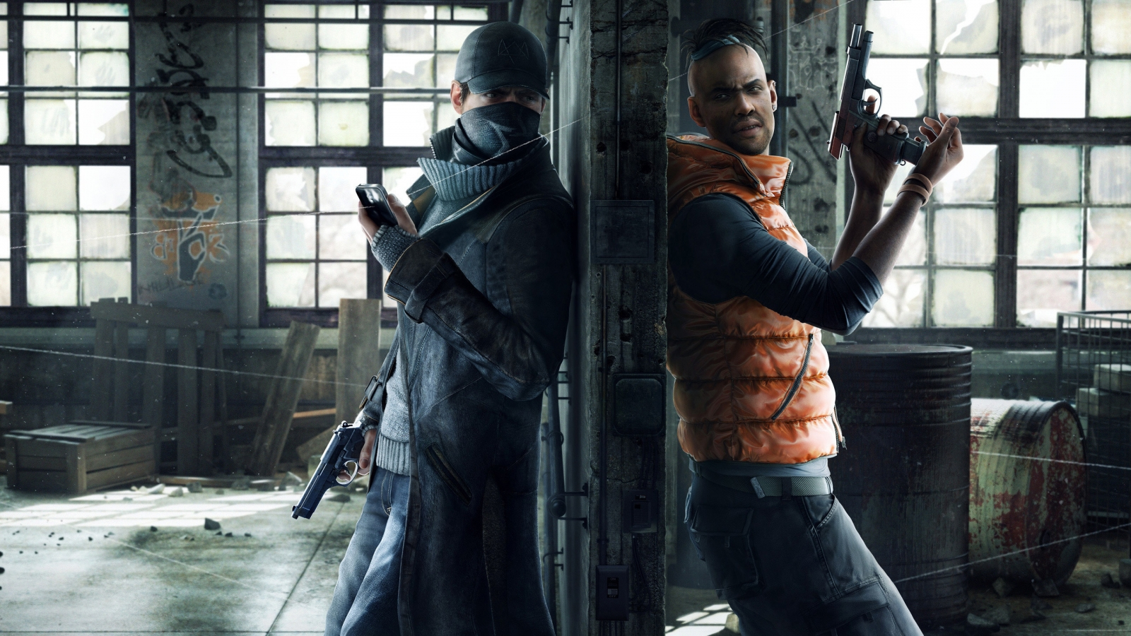 Watchdogs Aiden and Wade for 1600 x 900 HDTV resolution