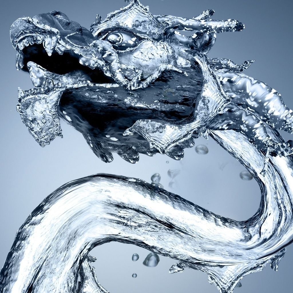 Water Dragon for 1024 x 1024 iPad resolution